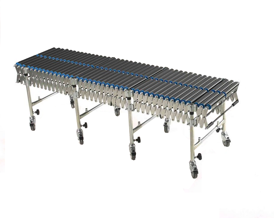 FLEXIBLE GRAVITY STRAIGHT ROLLER CONVEYOR TRACK WITH CENTRE LATTICE PVC ROLLERS