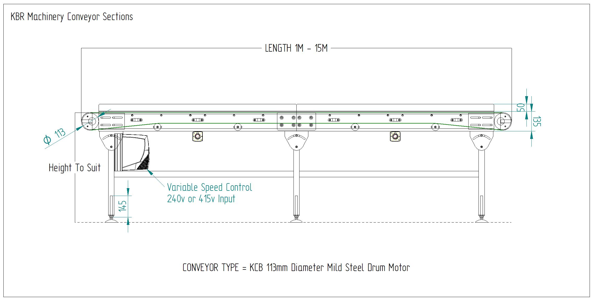Belt Conveyor Drawing Belt Conveyor Schematic KCB 113