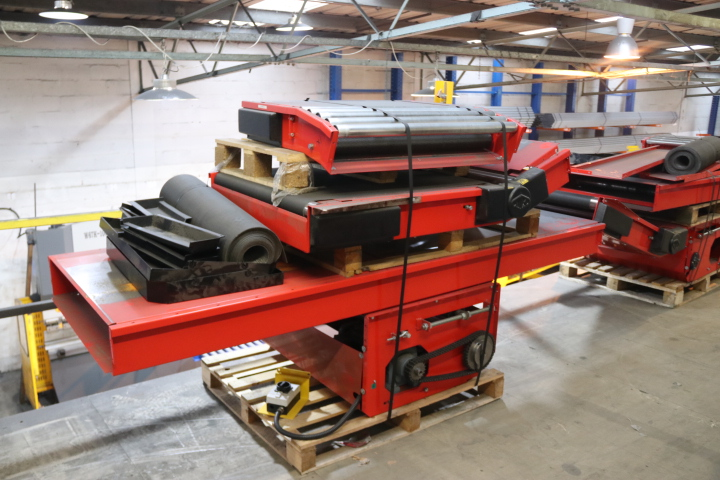 USED INCLINE BELT CONVEYOR SECONDHAND MEZZANINE FLOOR CONVEYOR