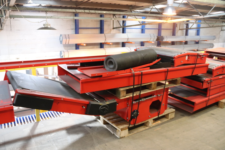 USED INCLINE FLOOR CONVEYOR USED INCLINE USED ELEVATING CONVEYOR USED MEZZANINE CONVEYORS