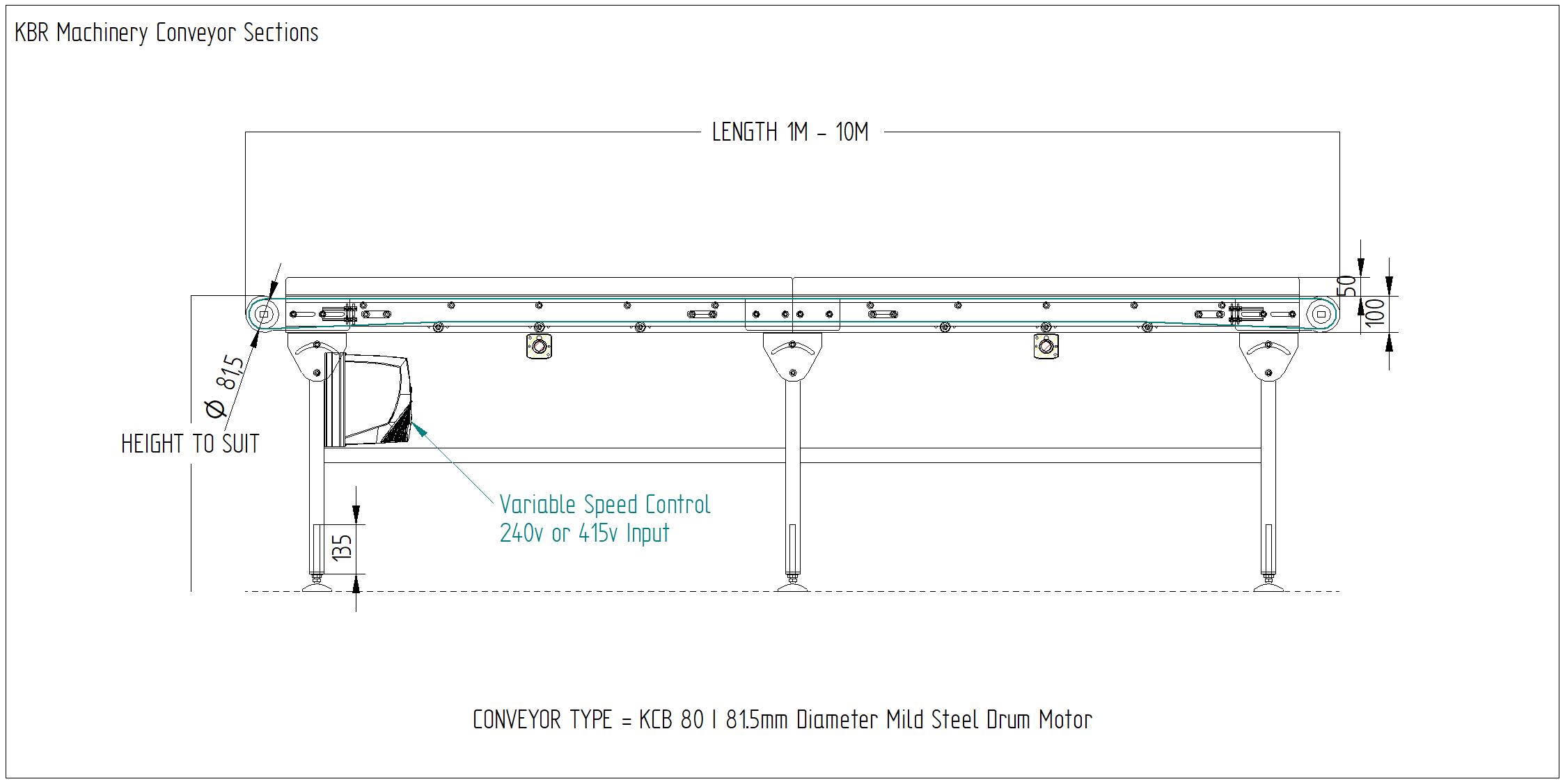 Light Duty Belt Conveyors & Conveyor Belt Systems - KCB 80