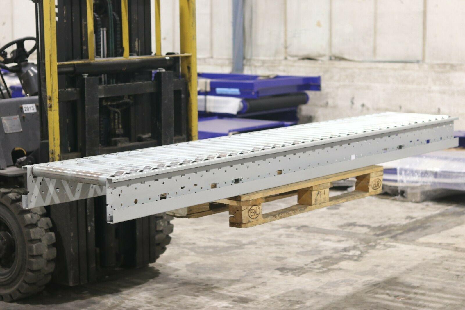 used gravity conveyor 450mm 50mm diameter rollers