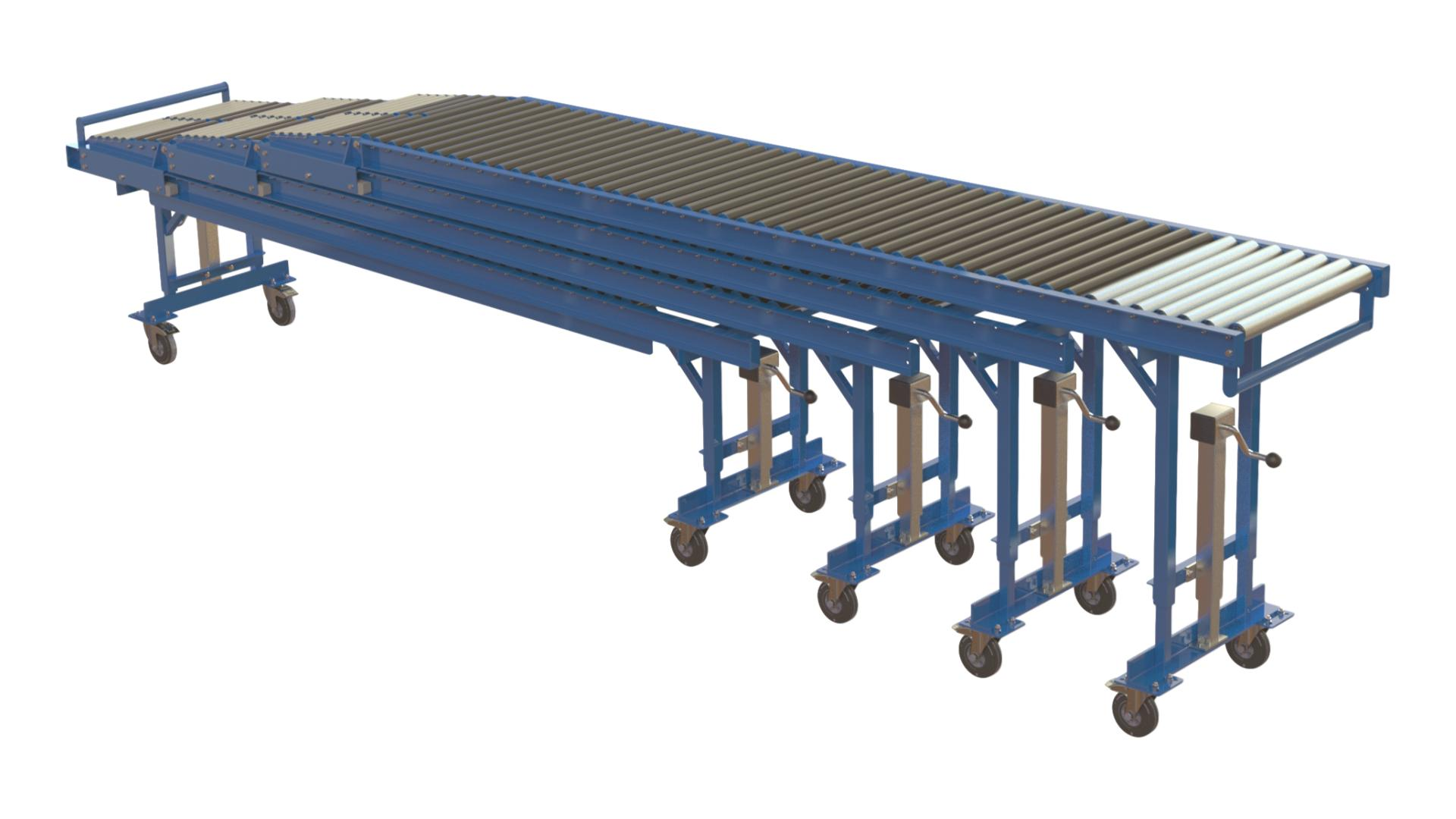 Low Level Dock Unloading Conveyor Systems