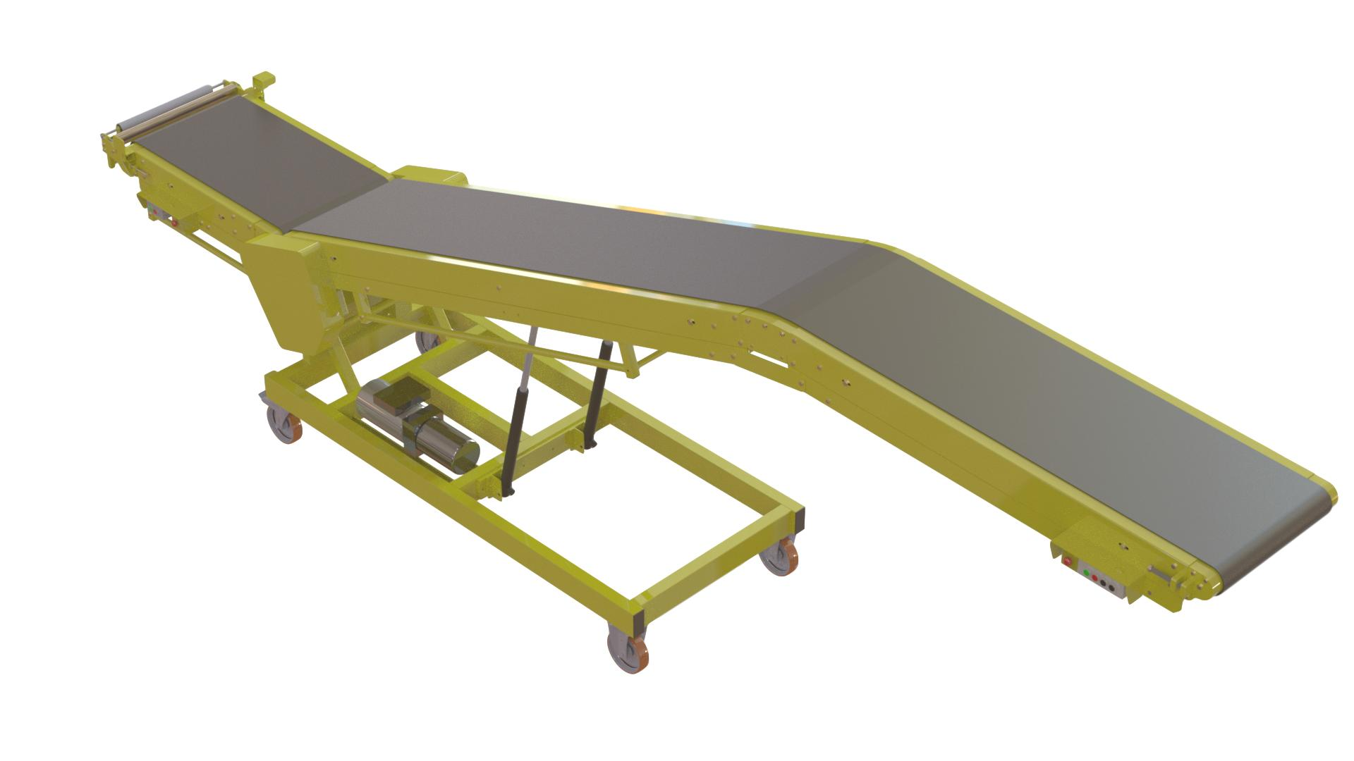 Penetrator Conveyor loading and unloading vans and trailers