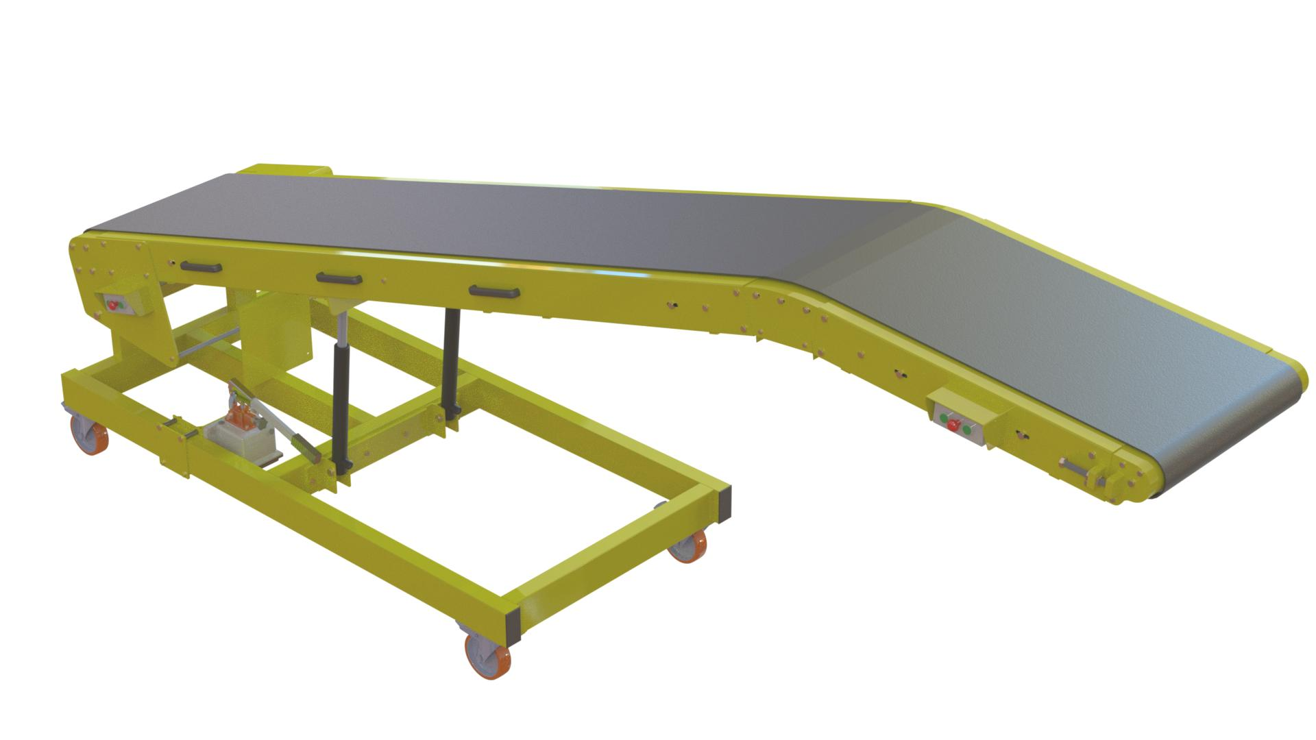 Van Loading and Unloading Conveyor