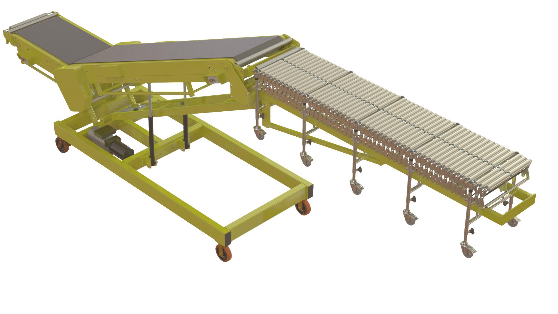 Vehicle Unloading Conveyors Belt Driven