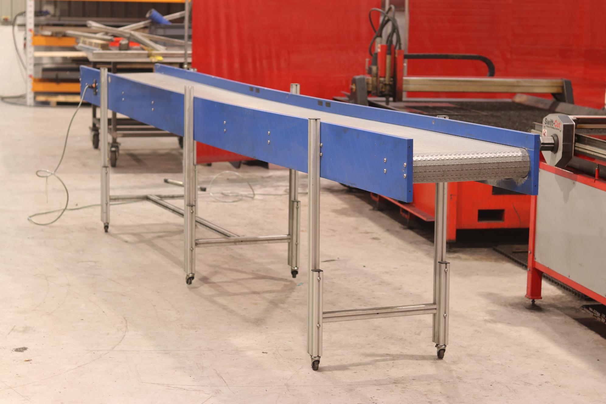 used plastic modular belt conveyor upm conveyors