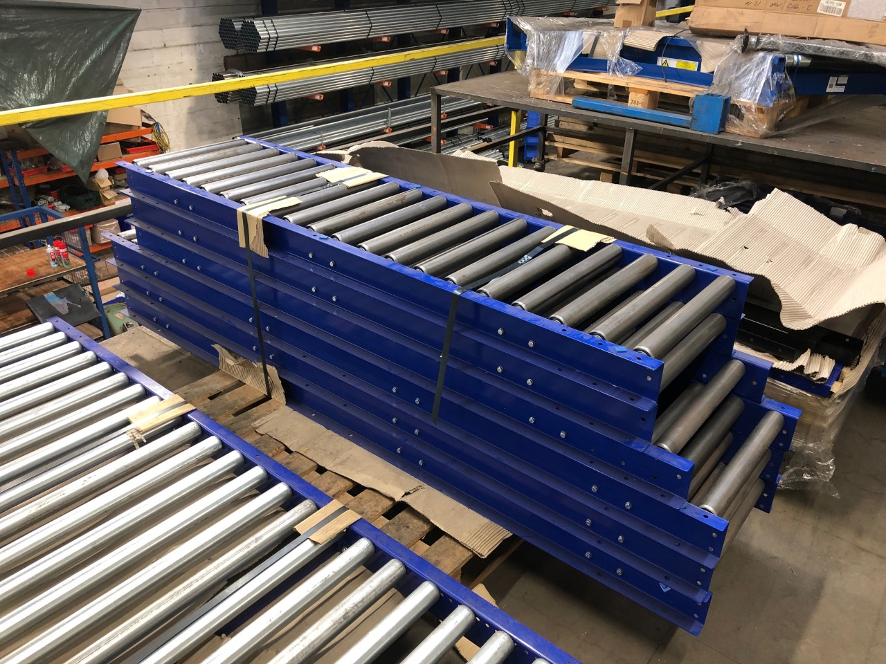New Ex demo gravity roller conveyors for sale