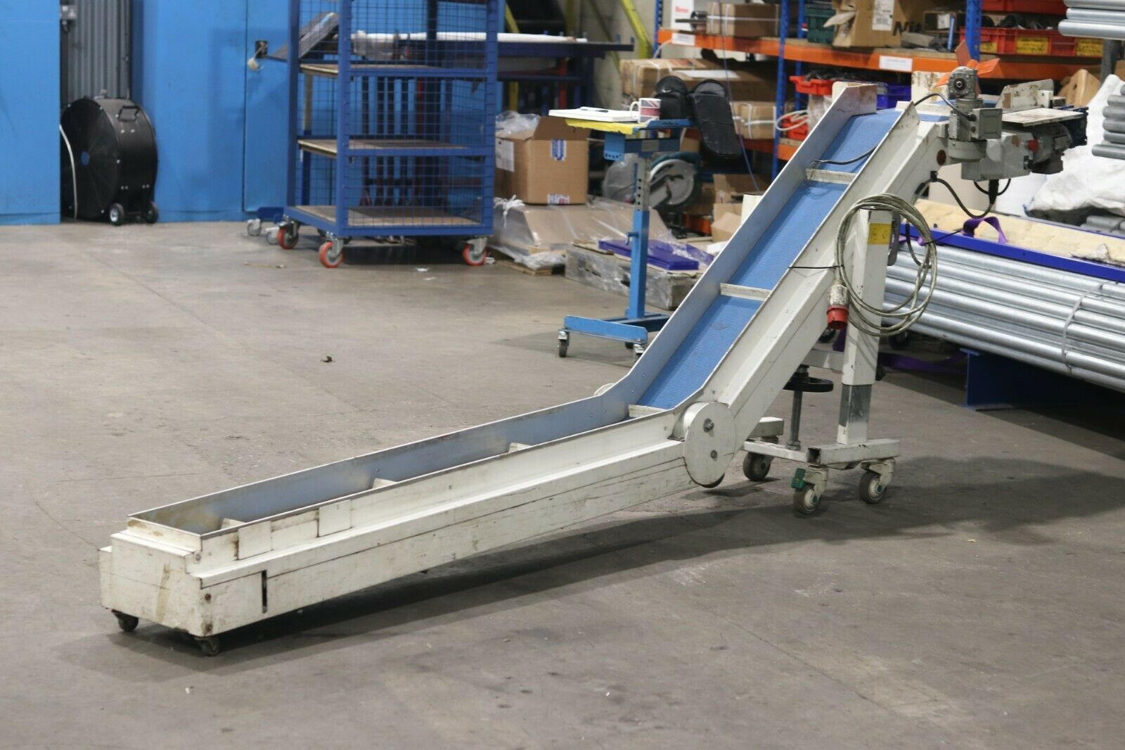 Used incline swan neck belt conveyor for sale online prices buy it now