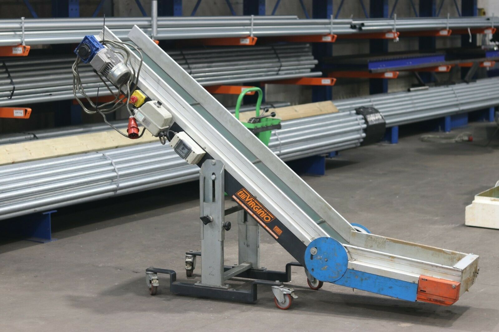 Used parts conveyors machine out feed conveyors