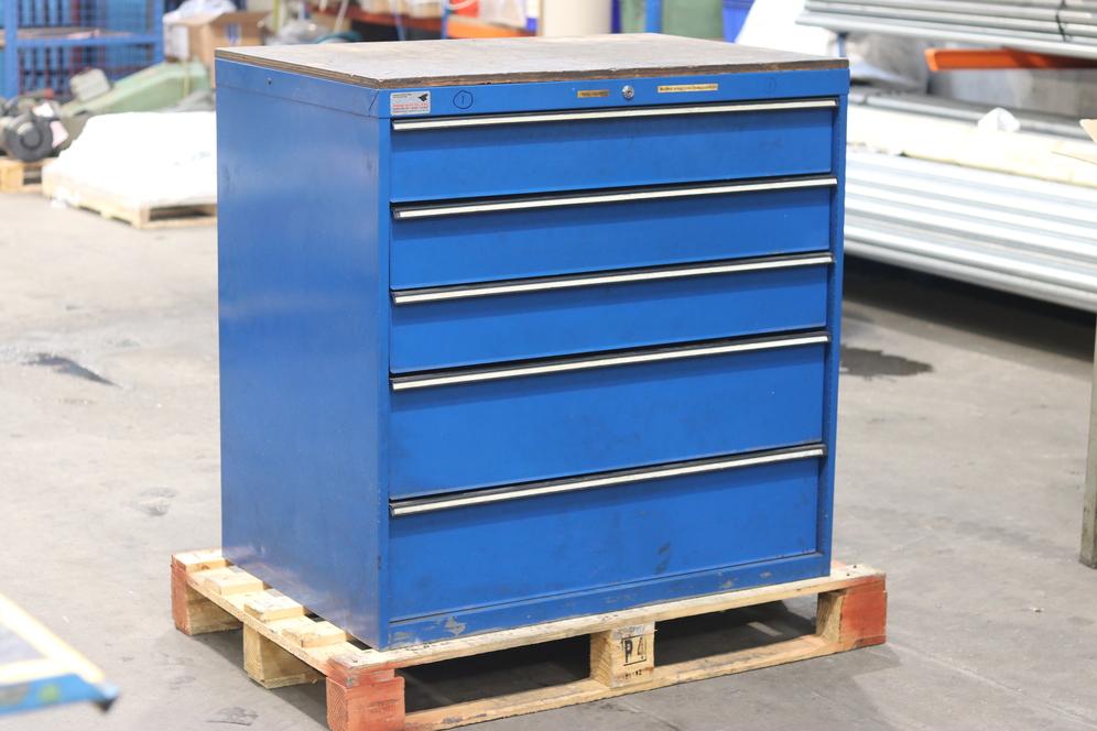 Used tool storage cabinet